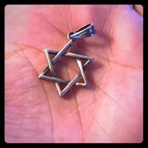 .925 silver Star of David, EUC